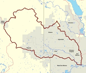 Map -- Walnut Creek Watershed Management Authority