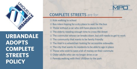 Website art - Urbandale Complete Streets