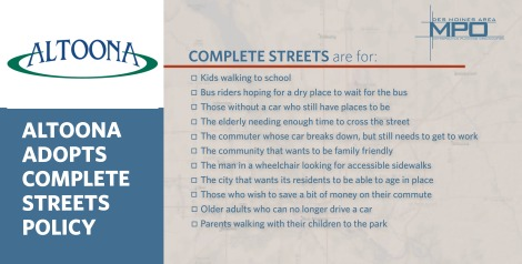 Website art -- Altoona complete streets policy